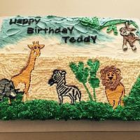 Vegan animal cake