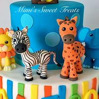 Zoo Animals 1st Bday and Smash Cake by MimisSweetTreats
