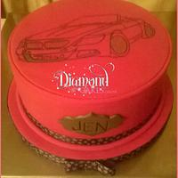 40th Car Birthday Cake