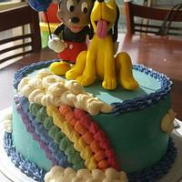Mickey mouse and pluto cake