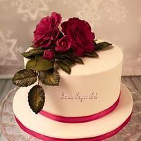 Small valentine cake