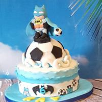 Batman went water football and cakepops
