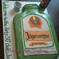 Jagerbomb cake