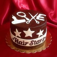 "Cake for the hairdresser. ""Declaration of love"""