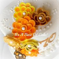 Buttercream w/Fondant Flowers