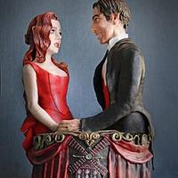 """""""Moulin Rouge"""" Cake for """"Be my Valentine"""" Collaboration"""