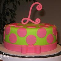 Pink and Green Polka Dot Birthday