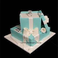 Engagement - Tiffany Ring Box Cake