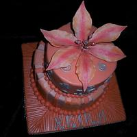 Peach Lilly by Sugarart Cakes