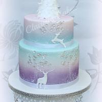 Wintery Whimisical Christmas Cake
