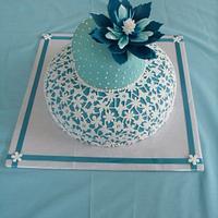 cake in blue