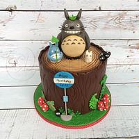 Totoro on a stump