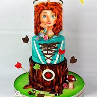 Princess Brave (Airbrush Cake)