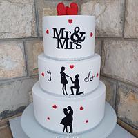 Wedding silouethe cake