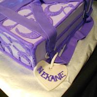 Buttercream Purple Coach Purse by caymancake