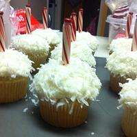 coconut north pole cupcakes