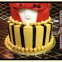 Bow Tie Tuxedo Graduation Cake by lanett