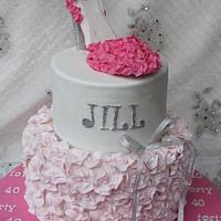 Pink with a touch of sparkle by Jo Finlayson (Jo Takes the Cake)