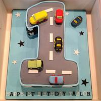 Boys 1st Birthday Cake