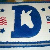 Democratic Fundraiser Cake