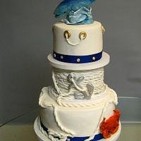 Nautical cake for crab feed