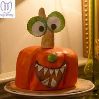 Pumpkin cake for children