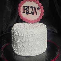 Runner Girl Birthday Cake!