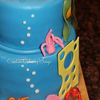 Little Mermaid Birthday Cake by Sonya