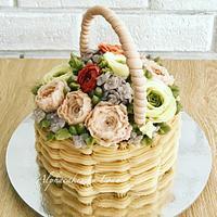 Basket of flowers 💐