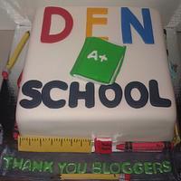 DEN School cake.