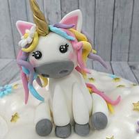 Unicorn cake topper by Stertaarten (Star Cakes)