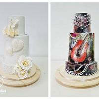 2-sided wedding cake