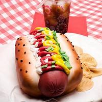 Hotdog & Fries Cake