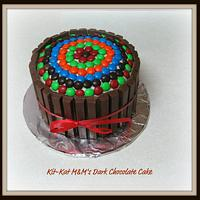 Kit-Kat M&M's Dark Chocolate Cake