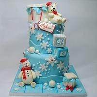 Christening  christmas cake