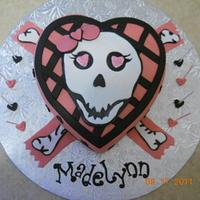 Girly Scull cake