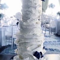 Sugar Ruffles Wedding Cake