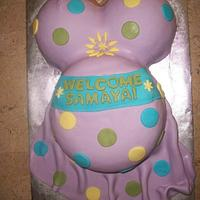 Preggo Belly Cake