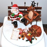 Santa & Rudolph chilling out