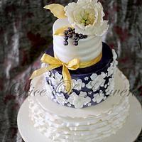Purple Radiance -Wedding Cake