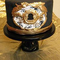 Baroque Keyhole Cake