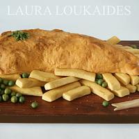 Fish & Chips Cake