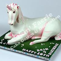 Unicorn 10th Birthday Cake