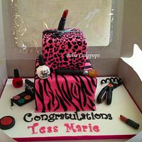 Beauty school graduation cake by Melissa Stewart