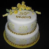 Golden Wedding Anniversary by Jo