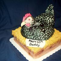 Dad's 60th birthday Hen Cake