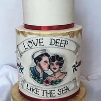 Painted nautical wedding