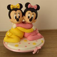 Baby Minnie twins - 3D cake