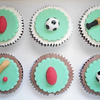 Sport Themed Cupcakes