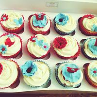 Girly cupcakes by Cakes by Nohaila